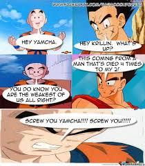 Krillin Meme - krillin vs yamcha by badasssuperbuu on deviantart
