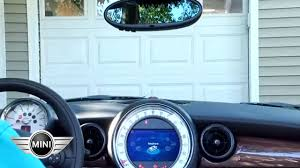 Syncing Garage Door Opener With Car by Mini Usa Garage Door Open Youtube