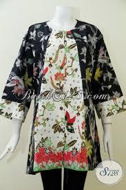 desain baju batik untuk acara resmi baju batik kerja wanita gemuk dengan ukuran jumbo blus batik trendy