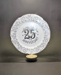 25th anniversary plate norcrest china silver anniversary plate 25th anniversary