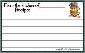 get free printable recipe cards here cookingnook com