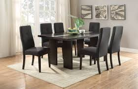 espresso dining room sets f2367 espresso dining table by poundex