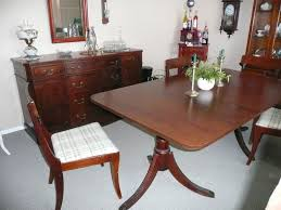 Duncan Phyfe Dining Room Set Paramount Furniture Mahogany Dining Table And Side Board For Sale