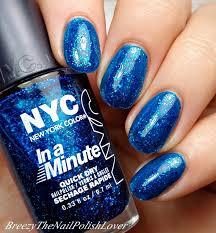 breezythenailpolishlover holiday glitz with nyc glitter nail