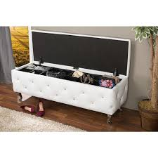 Large Ottoman Storage Bench by Pink Bench Entryway Furniture Furniture The Home Depot
