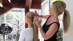ponytail hair extensions tutorial quickly attach a wrap around ponytail hair extension