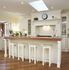 depiction of white wood bar stools kitchen design ideas