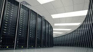 data center servers seamlessly looping animation of rack servers in data center stock
