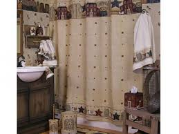 Country Shower Curtains For The Bathroom Bathroom 81 Primitive Country Bathroom Shower Curtain Primitive
