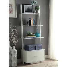 bookcase decorating with leaning ladder shelves leaning shelves