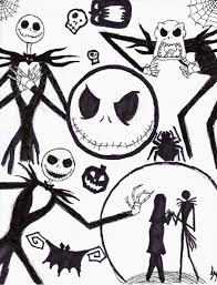 nightmare before christmas characters drawings google search