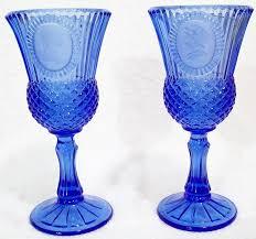 amazon com vintage avon fostoria cobalt blue glass goblet