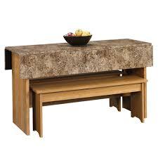 sauder beginnings highland oak 53in trestle table 413421