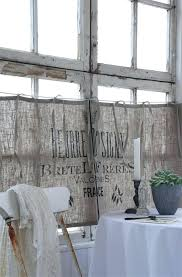 Make Kitchen Curtains by Making Curtains Out Of Burlap Sacks How To Make Curtains Out Of