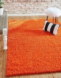 Burnt Orange Shag Rug Hand Tufted Rust Orange Solid Shag Area Rug Rust Living Rooms