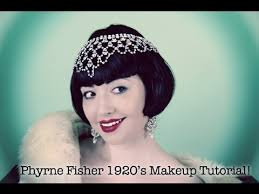miss fisher hairstyle 1920s vintage makeup tutorial youtube