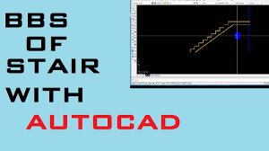 how to make bbs of staircase with the help of autocad youtube