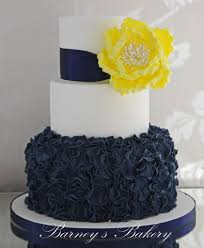 navy u0026 yellow wedding cake i loved working with these colo u2026 flickr