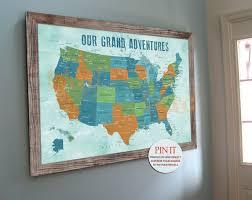 World Map Push Pin Board by Usa Push Pin Map 20x30 Inches America Trips Honeymoon