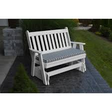 Patio Glider Bench A U0026l Furniture Co Traditional English 4ft Glider Chair Rocking