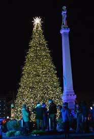christmas trees and lights christmas tree lights up franklin with holiday cheer to crowd of