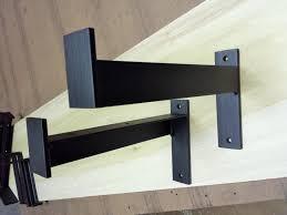 wood shelves with iron brackets kashiori com wooden sofa chair