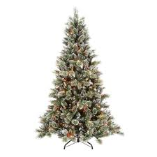 martha stewart living 7 5 ft pre lit sparkling pine artificial