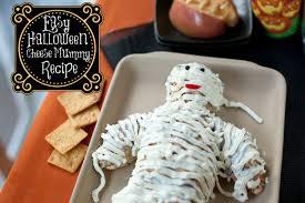 easy cheese mummy for halloween potluck
