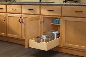 drawers for kitchen cabinets amazon com rev a shelf 4wdb 15 medium wood base cabinet pull