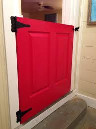 dutch door half door no more baby gate dutchdoor reddoor diy