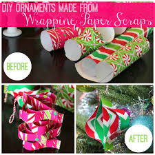 diy ornaments made from wrapping paper scraps all things g u0026d