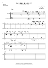 california blue california blue notes for drum kit and percussion instruments