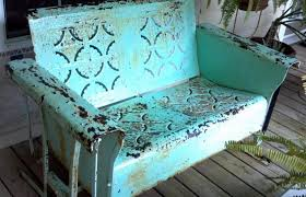 Old Metal Outdoor Furniture by Furniture Metal Porch Loveseat Glider For Outdoor Bench Ideas