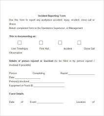 incident report register template incident report template 32 free word pdf format