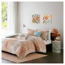 Turquoise And Brown Bedding Sets Orange Bedding Sets U0026 Collections Target