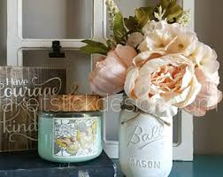 Vases With Fake Flowers Fake Flowers Etsy