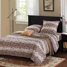soft bed sheets 100 cotton bedding set leopard duvet cover sets soft bed linen