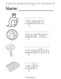 Letter Q Coloring Pages Vitlt Com Coloring Pages Q