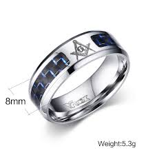 mens stainless steel wedding bands meaeguet cool men masonic rings stainless steel wedding rings for