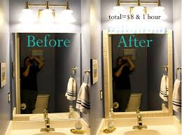 how to put a frame around a bathroom mirror image bathroom 2017