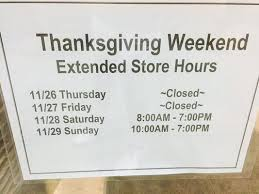 store mall hours on black friday in area