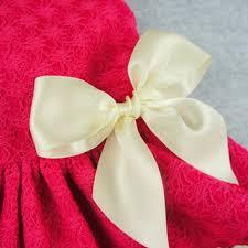 ribbon lace fitwarm pink sweet pet dog dress lace ribbon clothes shirts