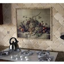 Kitchen Murals Backsplash by Appealing Tile Murals Kitchen Backsplash Featuring Wine Picture