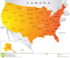usa map political map of usa stock images image 8733964