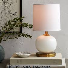 Glass Table Lamps Mini Abacus Table Lamp Milk Finish West Elm
