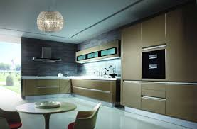 Lacquered Kitchen Cabinets Kitchen Room Kitchen Furniture High Gloss Lacquer Golden Color