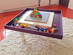 lego table with tray ikea hackers ikea hackers