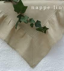 Chemin De Table Naturel Le Monde De Rose Catalogue Nappe Lin Naturel à Volant