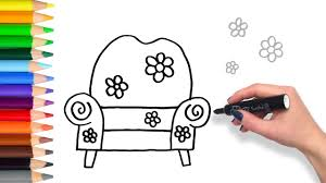 Couch Drawing Learn How To Big Comfy Couch Teach Drawing For Kids And Toddlers