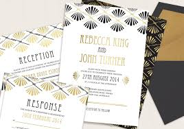 Wedding Invitations Under 1 Art Deco Wedding Invitations Dhavalthakur Com